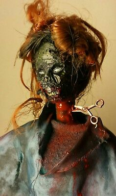Bad day at the salon zombie Barbie doll