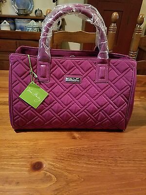 Vera Bradley Triple Compartment Satchel Plum  Nwt 👜🎁