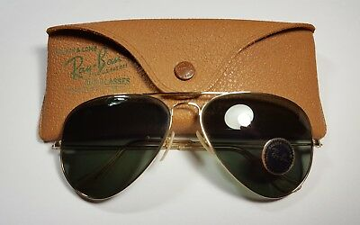 Vintage B&L Ray Ban Bausch & Lomb 1/10 12k GF G15 Aviator 58mm w/Case & Sticker