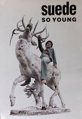 "40x60"" SUBWAY POSTER~Suede So Young On Deer Statue 1993 Original Rock NOS Rare~"