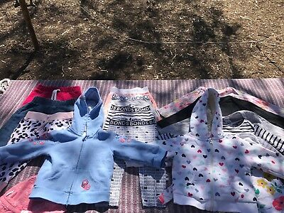 Girls/neutral Baby Size 0 Clothing Bundle - Bonds, Purebaby, Target - 16 Items!