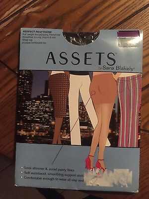 ASSETS by SARA BLAKELY BODY SHAPING PANTYHOSE BLACK SIZE 5