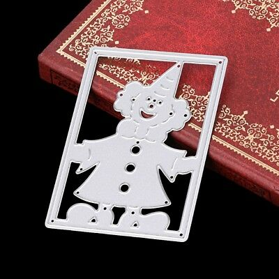 DIY Clown Frame Cutting Dies Stencil For Scrapbooking Embossing Paper Card Decor