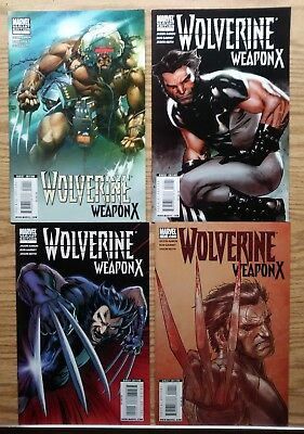 Wolverine Weapon X 1 (2009) Variant Marvel Comic Lot of 4!