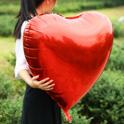 "32"" Giant Heart Shape Love Wedding Birthday Party Decoration Large Foil Balloon"