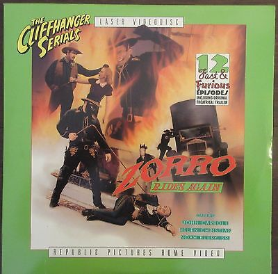 Zorro Rides Again (1937) - USA Laserdisc - Republic serial / John Carroll