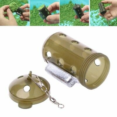 Fishing Tackle Trap Feeder Lure Bait Cage Pit Device Basket Holder With Lead 30g