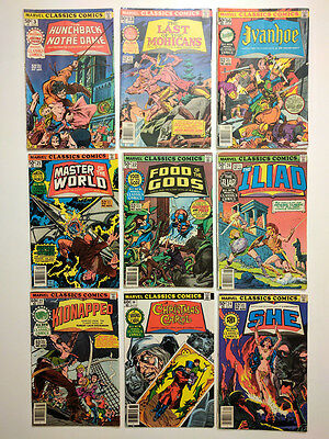 Marvel Classics Comics - 9 Issues in collection