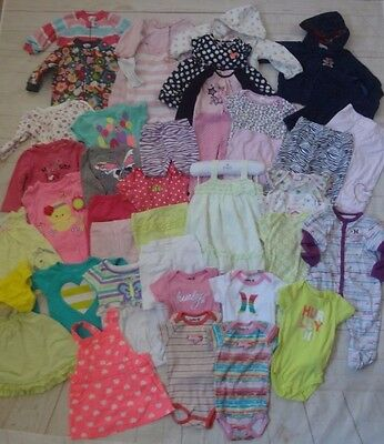 Infant Girl 46 pc. Mixed Clothing Lot, Size 6-9 Months
