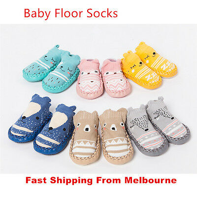 Baby No Slippery Socks Newborn Kid Safety Soft Crawling Gift Shoes Boy Girl