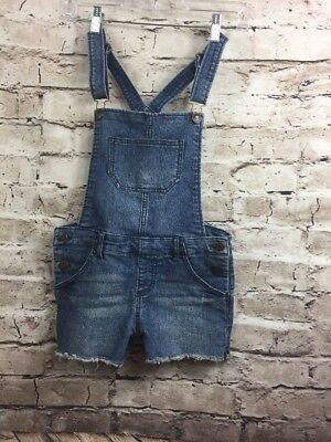 Cherokee Girls Youth Large Distressed Jean Stretch Overall Short