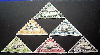 Liberia Air Mail Set 1-6 Cent CTO Stamps ,... Must Have, Add To Collection