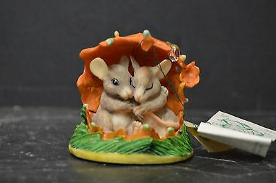 VINTAGE Dean Griff Charming Tails We'll Weather The Storm Together Mice Figurine
