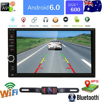GPS Navigation WIFI Android 6.0 2DIN 7 inch Auto Car Stereo DVD player AU MAP