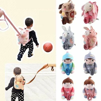 Cute Kids Safety Harness Reins Toddler Backpack Walker Buddy Strap Baby Bags