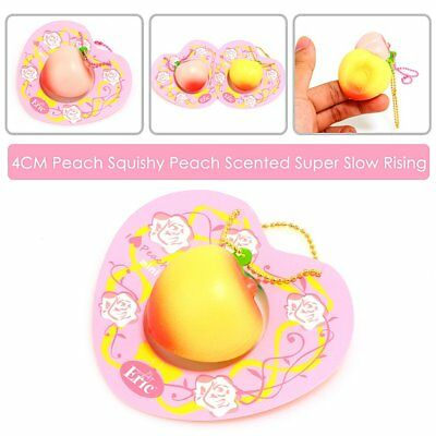 Mini Cute Lovely Peach Super Soft Squishy Scent Slow Rising Pinch Relax Kid Toy