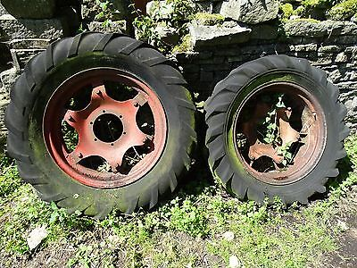 David Brown Tractor Wheels & Tyres x 2