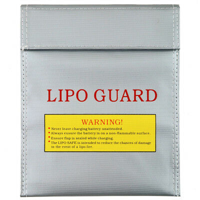 Battery Bag Fireproof RC LiPo Safe Storage Guard Charge Silver Bag Sack S/L Size