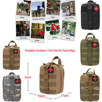 Tactical Military Travel First Aid Kit Bag Emergency Medical Survival Rescue Box