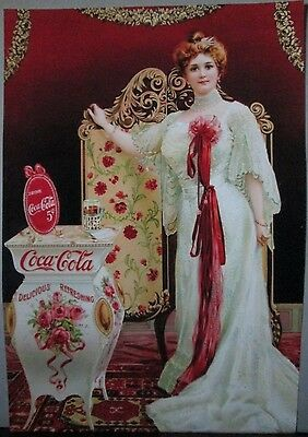 Beautiful Victorian Coca-Cola Ad Wall Poster In Hp Advanced Print Excellent Nice