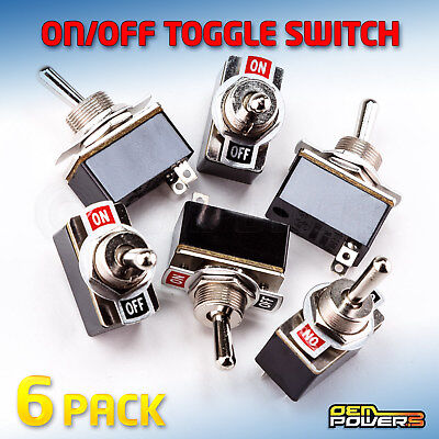 6 X RadioShack SPST Toggle Switch On/Off Label 3A 125V #2750602 BULK PACK NEW