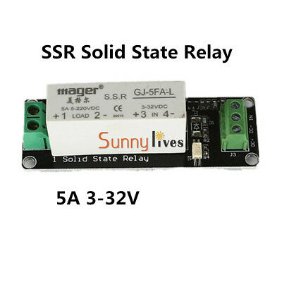 1 Channel SSR Solid State Relay High-low Trigger 5A 3-32VDC For Arduino Uno R3