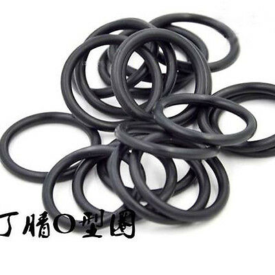1.5mm Wire Diameter O-ring NBR Rubber Oil Resistant Sealing Rings 4.4mm-15mm OD