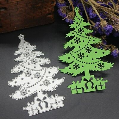DIY Christmas Tree Cutting Dies Stencil Scrapbooking Embossing Paper Card Craft
