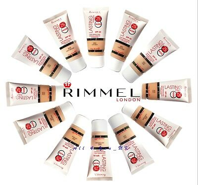 Rimmel Lasting Finish 25hr Nude Foundation  SPF20(Tube)30ml -Please Choose Shade