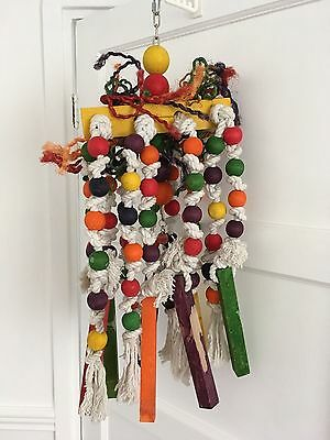 """Very Large Wooden Parrot-Macaw-Large Bird Toy Approx 29"""" Long X 10""""wide"""