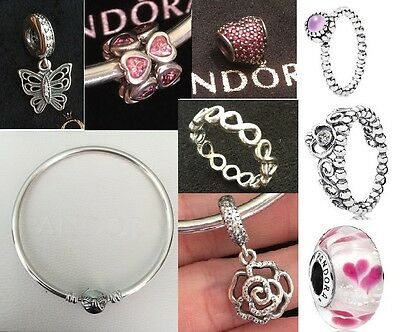 Pandora bow moments bangle 19cm Clip charm Butterfly INFINITE RING Spacer