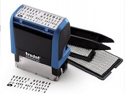 Trodat 4912 TYPO Do-it-yourself Stamp, Black Ink