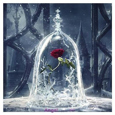 5D Wall Diamond DIY Embroidery Painting Rhinestone Kit Home Decor Craft Red Rose