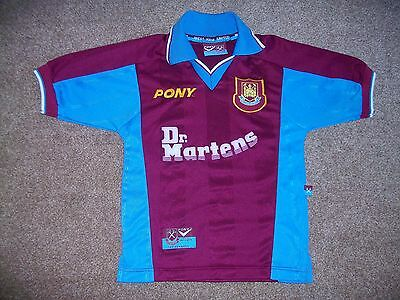 Small Boys West Ham Dr Martens Shirt Jersey Top