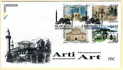 Kosovo Stamps 2017. Monumental Art, Religious. FDC Set Sheet MNH