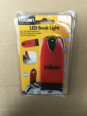 Rolson LED Flexible Clip On Book Reading Light