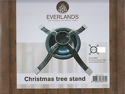 Everlands Metal Christmas Tree Stand Holds Width Up To 7.5cm 3 Inch Holder Green