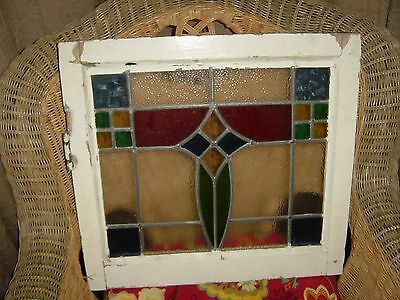 ANTIQUE 1920's ENGLISH CO. LEADED STAINED GLASS WINDOW!!