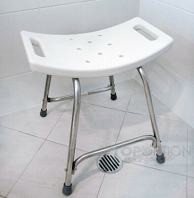 Stainless Steel Frame Non Slip Bath and Shower Heavy Duty Safety Seat Stool New