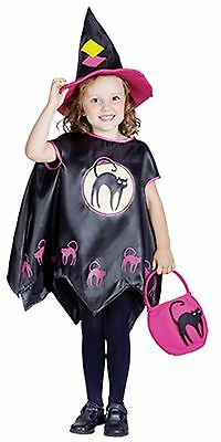 Witch Cape Toddler Girls Fancy Dress Hat Bag Halloween Children Costume 2-4