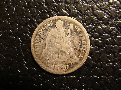 Unusual Looks like an 1890-O Seated Liberty Dime Ungraded None Were Shown Minted