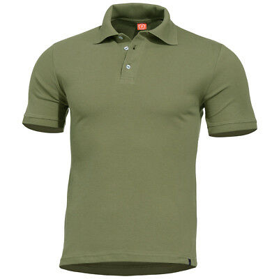 Pentagon Sierra Polo Shirt Army Combat Top Military Tactical Mens T-Shirt Olive