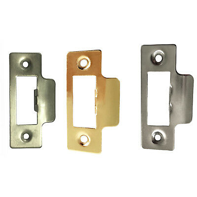 Strike Plate Replacement for Tubular Latches, Square Corners Plate 75mm Long