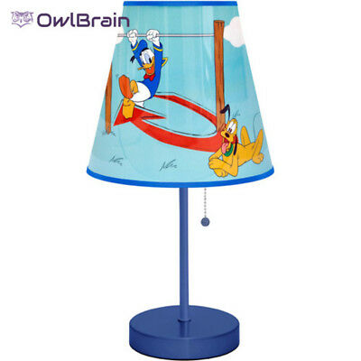 Disney Mickey Mouse Table Lamp Blue Child's Bedroom Playroom Study Area
