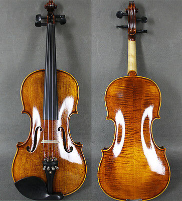 Beautiful Solid Wood Hand-Made&Varnished Antique 4/4 Violin w/ Case&Bow