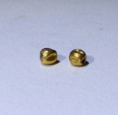 2 X Lovely Ancient Roman Gold Beads - Circa 2Nd Century Ad No Reserve!!