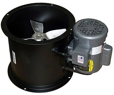 """Spray Booth Fan - 12"""" Tube Axial - 1100 CFM - Made in the USA"""