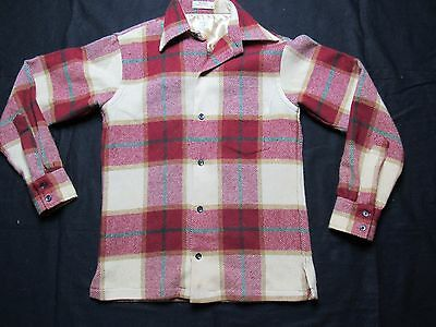 VINTAGE 60S WOOLSTER GANT flannel shirt plaid print GANT RUTLAND SHIRT MAKERS S