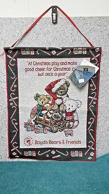 Candy Christmas tapestry for Boyd's Bears by Manual Woodworkers