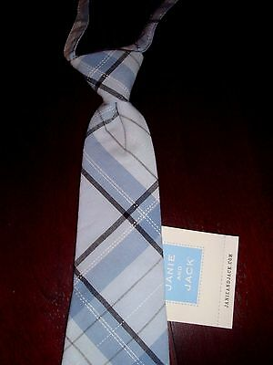 NWT Janie and Jack Light Blue/Black PLAID Tie Up to 3 2T 3T 4T Church Wedding